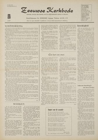 Zeeuwsche kerkbode, weekblad gewijd aan de belangen der gereformeerde kerken/ Zeeuwsch kerkblad 1970-07-30