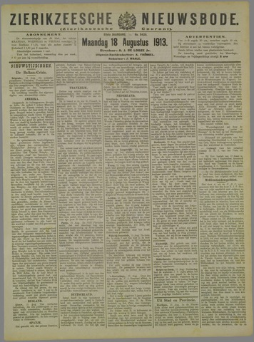 Zierikzeesche Nieuwsbode 1913-08-18