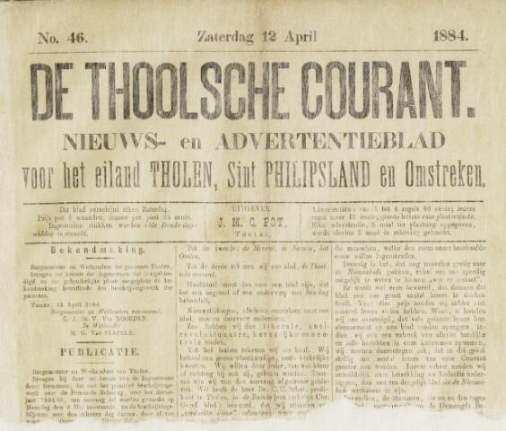 Ierseksche en Thoolsche Courant 1884-04-12