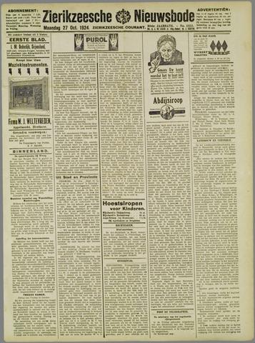 Zierikzeesche Nieuwsbode 1924-10-27