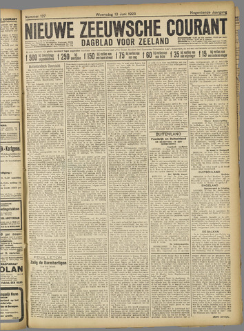 Nieuwe Zeeuwsche Courant 1923-06-13