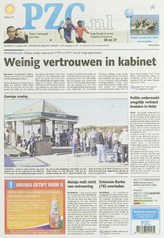 Provinciale Zeeuwse Courant 2010-10-11