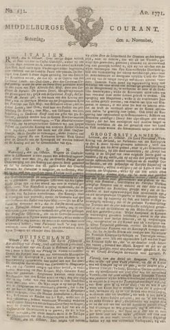 Middelburgsche Courant 1771-11-02