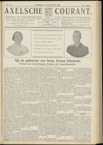 Axelsche Courant 1939-08-08
