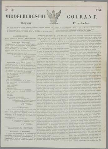 Middelburgsche Courant 1854-09-12