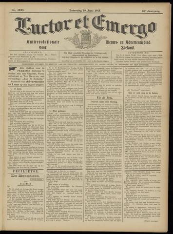Luctor et Emergo. Antirevolutionair nieuws- en advertentieblad voor Zeeland / Zeeuwsch-Vlaanderen. Orgaan ter verspreiding van de christelijke beginselen in Zeeuwsch-Vlaanderen 1915-06-19