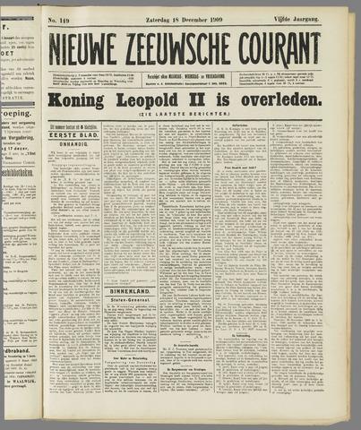 Nieuwe Zeeuwsche Courant 1909-12-18