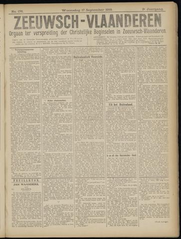 Luctor et Emergo. Antirevolutionair nieuws- en advertentieblad voor Zeeland / Zeeuwsch-Vlaanderen. Orgaan ter verspreiding van de christelijke beginselen in Zeeuwsch-Vlaanderen 1919-09-17