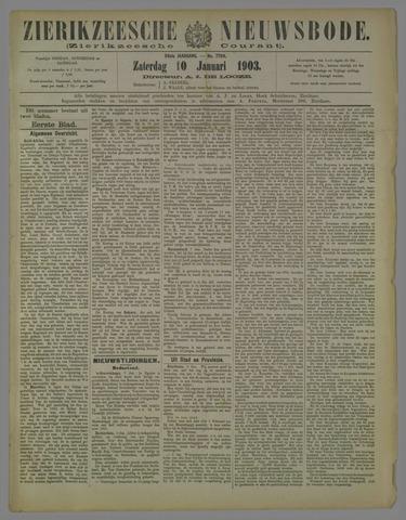 Zierikzeesche Nieuwsbode 1903-01-10