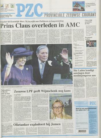 Provinciale Zeeuwse Courant 2002-10-07