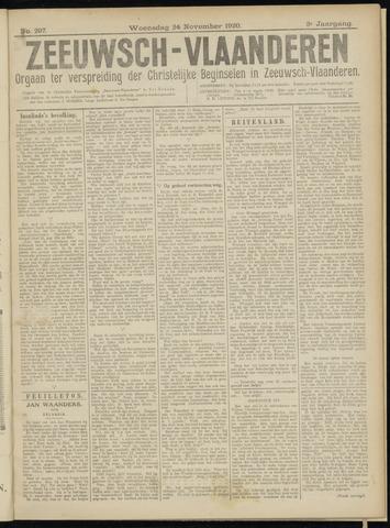 Luctor et Emergo. Antirevolutionair nieuws- en advertentieblad voor Zeeland / Zeeuwsch-Vlaanderen. Orgaan ter verspreiding van de christelijke beginselen in Zeeuwsch-Vlaanderen 1920-11-24