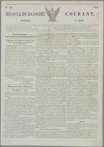 Middelburgsche Courant 1854-04-08
