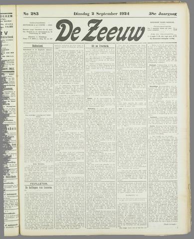 De Zeeuw. Christelijk-historisch nieuwsblad voor Zeeland 1924-09-02
