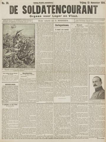 De Soldatencourant. Orgaan voor Leger en Vloot 1914-11-13