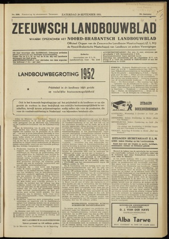 Zeeuwsch landbouwblad ... ZLM land- en tuinbouwblad 1951-09-29