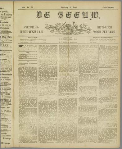 De Zeeuw. Christelijk-historisch nieuwsblad voor Zeeland 1896-03-19