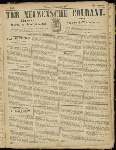 Ter Neuzensche Courant. Algemeen Nieuws- en Advertentieblad voor Zeeuwsch-Vlaanderen / Neuzensche Courant ... (idem) / (Algemeen) nieuws en advertentieblad voor Zeeuwsch-Vlaanderen 1887-01-08