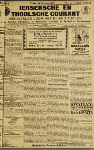 Ierseksche en Thoolsche Courant 1927-02-11