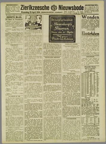 Zierikzeesche Nieuwsbode 1924-04-23