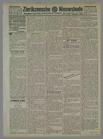 Zierikzeesche Nieuwsbode 1933-04-05