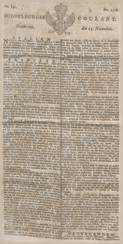 Middelburgsche Courant 1779-11-25