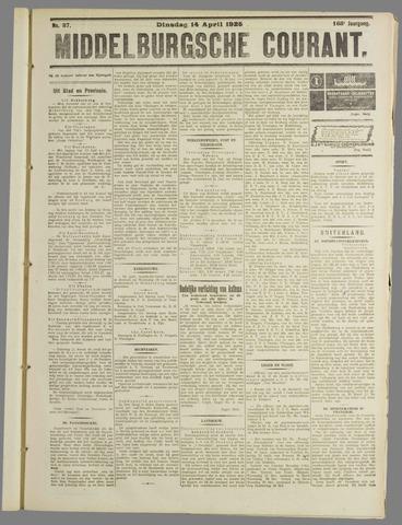 Middelburgsche Courant 1925-04-14