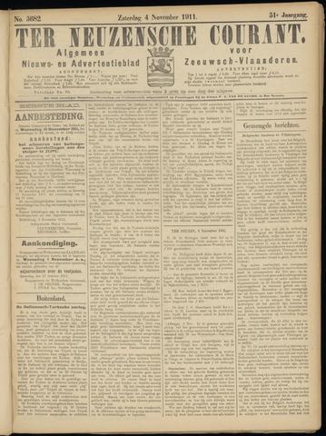 Ter Neuzensche Courant. Algemeen Nieuws- en Advertentieblad voor Zeeuwsch-Vlaanderen / Neuzensche Courant ... (idem) / (Algemeen) nieuws en advertentieblad voor Zeeuwsch-Vlaanderen 1911-11-04