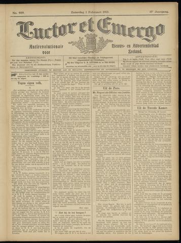 Luctor et Emergo. Antirevolutionair nieuws- en advertentieblad voor Zeeland / Zeeuwsch-Vlaanderen. Orgaan ter verspreiding van de christelijke beginselen in Zeeuwsch-Vlaanderen 1913-02-01