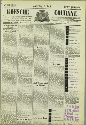 Goessche Courant 1913-07-05