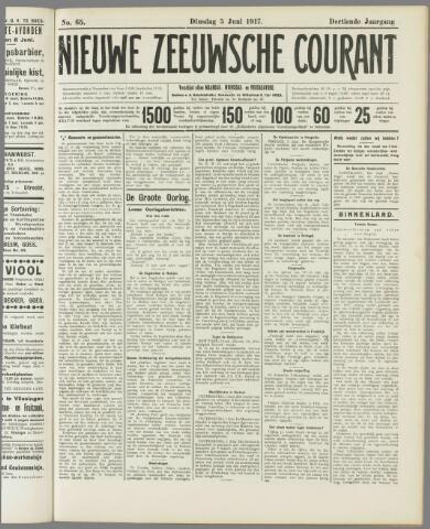 Nieuwe Zeeuwsche Courant 1917-06-05