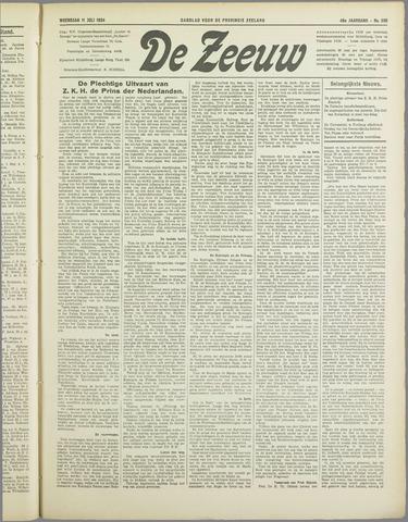 De Zeeuw. Christelijk-historisch nieuwsblad voor Zeeland 1934-07-11