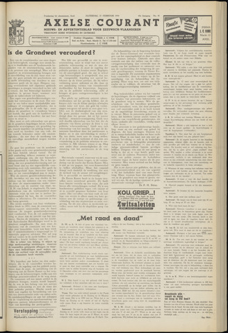 Axelsche Courant 1954-02-27