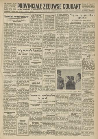 Provinciale Zeeuwse Courant 1947-09-30
