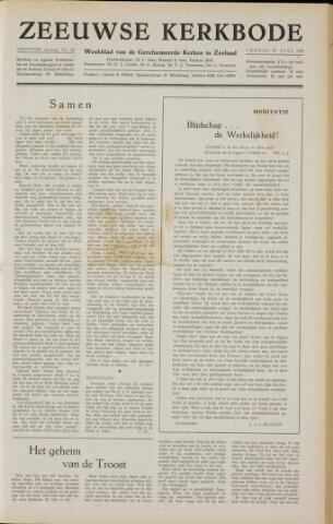 Zeeuwsche kerkbode, weekblad gewijd aan de belangen der gereformeerde kerken/ Zeeuwsch kerkblad 1958-06-27