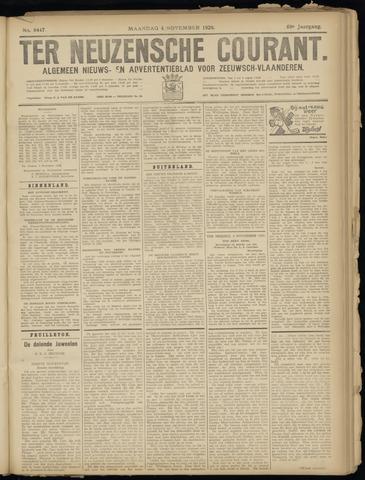 Ter Neuzensche Courant. Algemeen Nieuws- en Advertentieblad voor Zeeuwsch-Vlaanderen / Neuzensche Courant ... (idem) / (Algemeen) nieuws en advertentieblad voor Zeeuwsch-Vlaanderen 1929-11-04