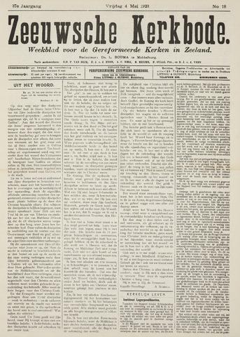 Zeeuwsche kerkbode, weekblad gewijd aan de belangen der gereformeerde kerken/ Zeeuwsch kerkblad 1923-05-04