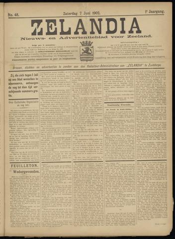 Zelandia. Nieuws-en advertentieblad voor Zeeland | edities: Het Land van Hulst en De Vier Ambachten 1902-06-07