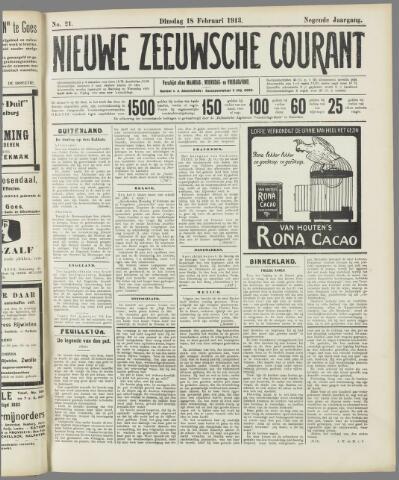 Nieuwe Zeeuwsche Courant 1913-02-18