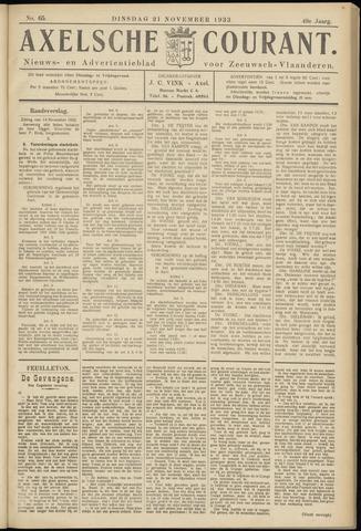 Axelsche Courant 1933-11-21