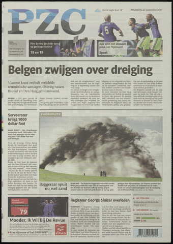 Provinciale Zeeuwse Courant 2014-09-22