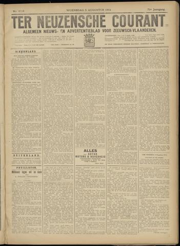 Ter Neuzensche Courant. Algemeen Nieuws- en Advertentieblad voor Zeeuwsch-Vlaanderen / Neuzensche Courant ... (idem) / (Algemeen) nieuws en advertentieblad voor Zeeuwsch-Vlaanderen 1931-08-05
