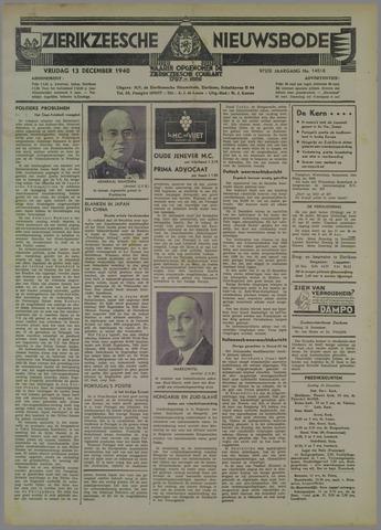 Zierikzeesche Nieuwsbode 1940-12-13