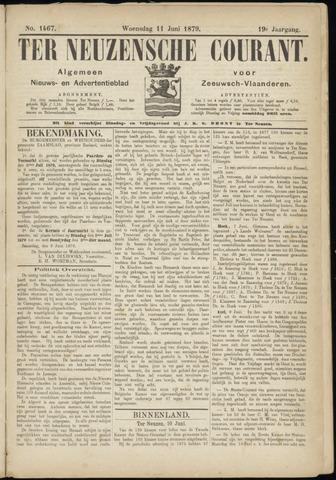 Ter Neuzensche Courant. Algemeen Nieuws- en Advertentieblad voor Zeeuwsch-Vlaanderen / Neuzensche Courant ... (idem) / (Algemeen) nieuws en advertentieblad voor Zeeuwsch-Vlaanderen 1879-06-11