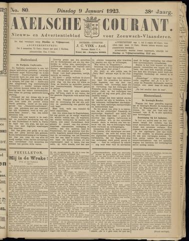 Axelsche Courant 1923-01-09