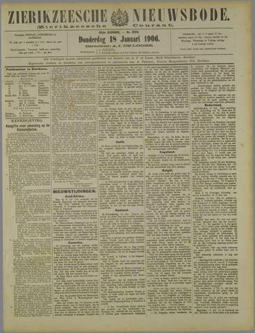 Zierikzeesche Nieuwsbode 1906-01-18