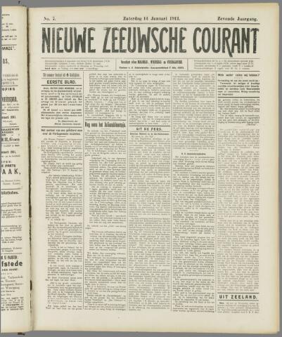 Nieuwe Zeeuwsche Courant 1911-01-14
