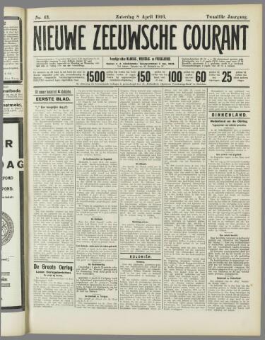 Nieuwe Zeeuwsche Courant 1916-04-08