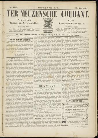 Ter Neuzensche Courant. Algemeen Nieuws- en Advertentieblad voor Zeeuwsch-Vlaanderen / Neuzensche Courant ... (idem) / (Algemeen) nieuws en advertentieblad voor Zeeuwsch-Vlaanderen 1878-06-08