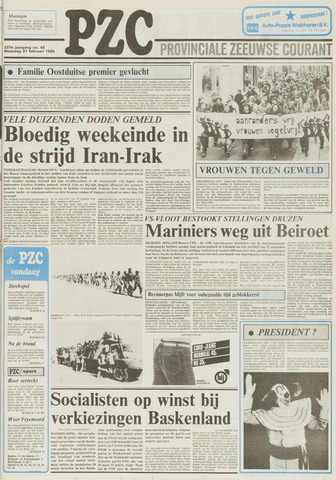 Provinciale Zeeuwse Courant 1984-02-27
