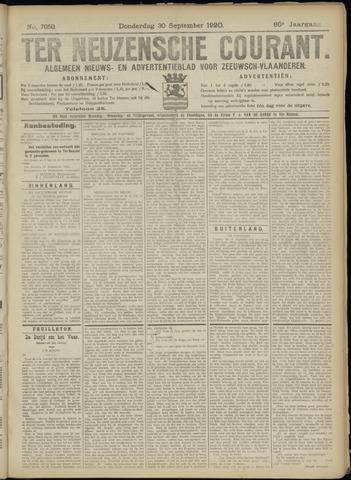 Ter Neuzensche Courant. Algemeen Nieuws- en Advertentieblad voor Zeeuwsch-Vlaanderen / Neuzensche Courant ... (idem) / (Algemeen) nieuws en advertentieblad voor Zeeuwsch-Vlaanderen 1920-09-30